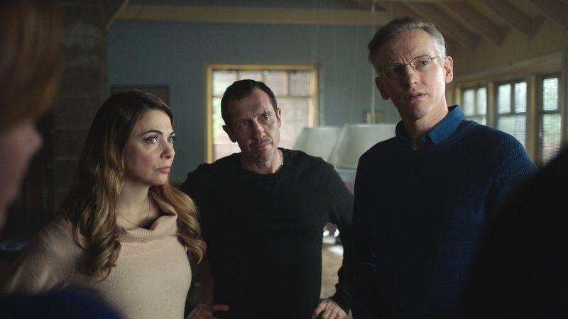 Een foto van KLEM met Georgina Verbaan, Jacob Derwig en Barry Atsma