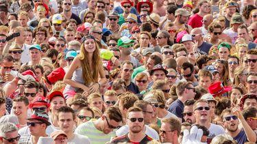 Een foto van een van de grote festivals, Rock Werchter