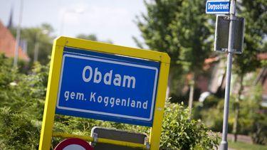 Voormalig gemeentehuis Obdam in brand