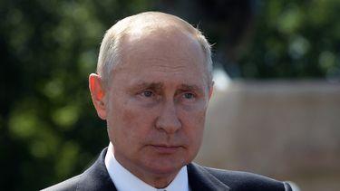 Op deze foto zie je Poetin