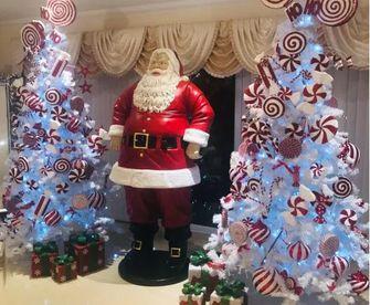 Op deze foto zie je twee van Joanna's kerstbomen