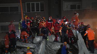 foto van aardbeving Izmir