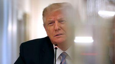 Op deze foto zie je president Trump.