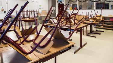 Foto van leeg klaslokaal