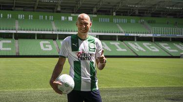 Een foto van Arjen Robben in het shirt van FC Groningen