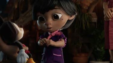 Een shot uit de Disney-reclame.