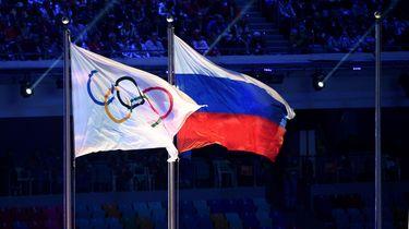 Geen Russische vlag bij slotceremonie van de Spelen. / AFP