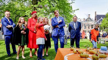 Koninklijke familie viert feest in Groningen. / ANP