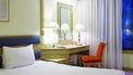 Een foto van een op het oog schone hotelkamer