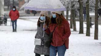 foto van sneeuw in Spanje