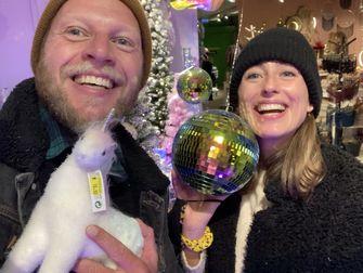 foto van kerstbaleffect