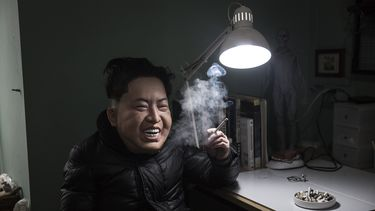 foto van persiflage Kim-jong un