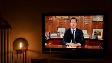 Zeven miljoen mensen zien speech Mark Rutte live