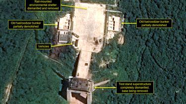 'Noord-Korea breekt raketinstallaties af'