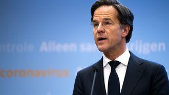 Premier Mark Rutte persconferentie VVD