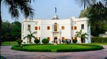 De Nederlandse ambassade in India.