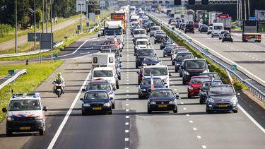 Afname van verkeer zorgt voor minder files