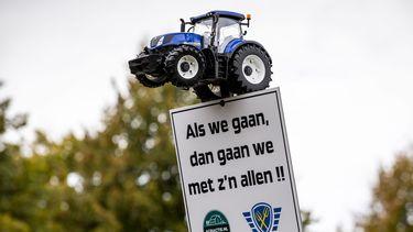 Boeren protesteren op het Malieveld in Den Haag onder de naam #Agractie