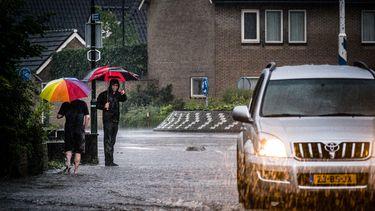 foto van slecht regenachtig weer