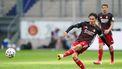 Op deze foto is Steven Berghuis van Feyenoord te zien, tijdens de voetbalwedstrijd.
