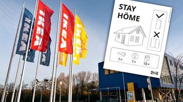 Ikea speelt in op coronacrisis: 'Stay höme'