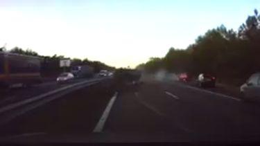 Tesla voorspelt auto-ongeluk A2 en remt af