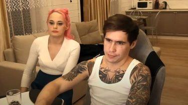 Stas Reeflay en zijn vriendin.