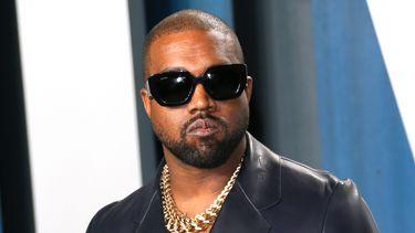 Op deze foto zie je rapper Kanye West