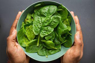 Een foto van spinazie