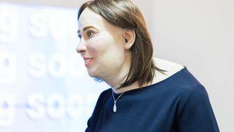 Emma, het wassenbeeld dat laat zien hoe de kantoormedewerker van nu er in 2040 uit zal zien.