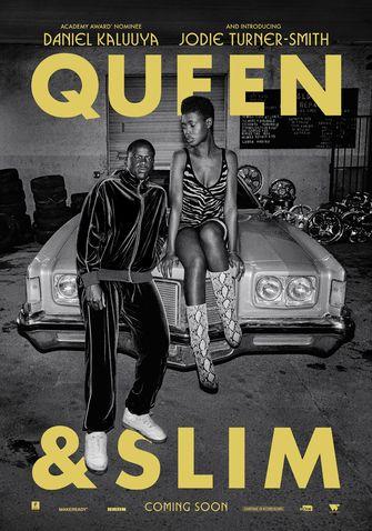 Op deze foto zie je de film poster van Queenslim
