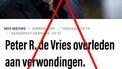 nepnieuws ziekenhuis overlijden Peter R. de Vries aanslag