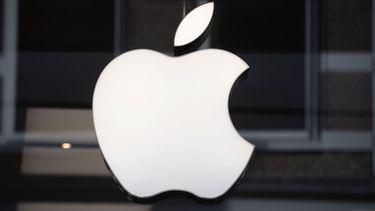 Op deze foto zie je het Apple logo