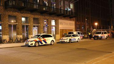 Politie beëindigt feestje bij Vindicat in Groningen.