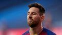 Een foto van Messi in het shirt van Barcelona