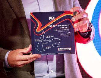 Een foto van de licentie van het Formule 1-circuit in Zandvoort