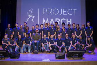 Ruben de Sain en het team van Project March. Foto: Project MARCH