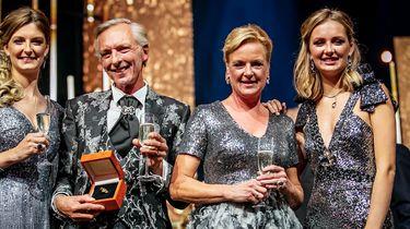 De familie Meiland tijdens de uitreiking van de Gouden Televizier-Ring 2019