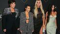 Kris Jenner met haar dochters Kourtney, Khloe en Kim Kardashian
