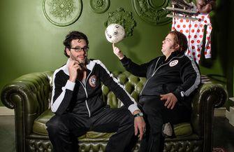 Een foto van Frank Evenblij met Erik Dijkstra van Bureau Sport