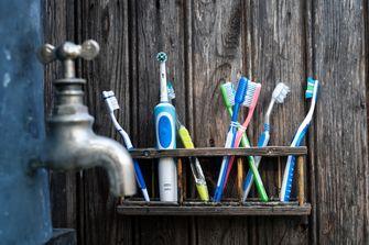 Een foto van tandenborstels