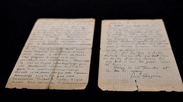 Op deze foto zie je een brief van van Gogh en Gaughain