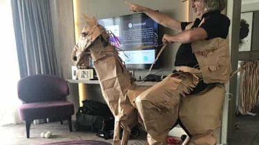 quarantaine Australiër paard kunst