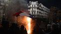 Foto van de rellen in Frankrijk