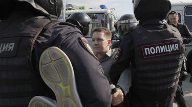 Honderden betogers opgepakt in Moskou