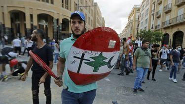 foto van protesten Libanon