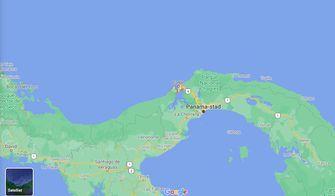 Een kaart van de verblijfplaats van Ana en Raymond in Panama