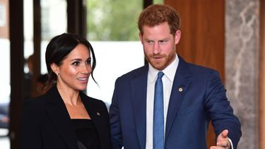 foto van prins Harry en Meghan