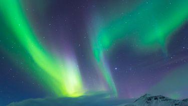 Op deze foto is het Noorderlicht te zien