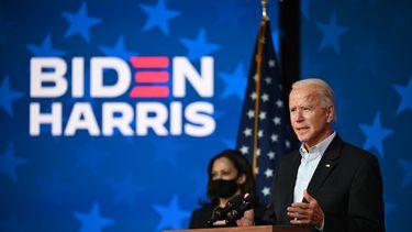 Foto van Joe Biden en Kamala Harris.